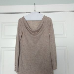 LOFT Tunic Top in Oatmeal, Size Small